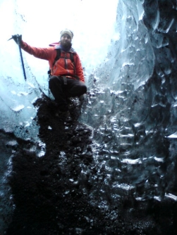 Alli our guide in the ice cave