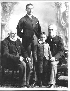 Four Williams, photo taken about 1892