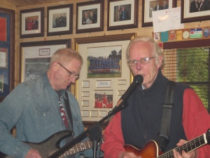 Bernie and Guy grooving at a rehearsal chez Mick