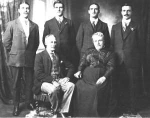 My great grandparents, Billy and Fanny with their four sons,