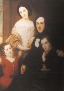 Rosetta and Samuel, about 1853, the children may be Charlotte and Louis