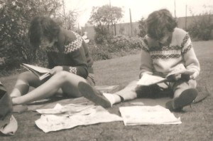 Me and Frankie working in the garden, I wonder what we were writing in those days?