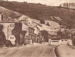The Pilgrim's way used to run by here which became a coach road for stage coaches between Reigate and London. There was a toll there, which you can see in this picture from about 1755 to 1881
